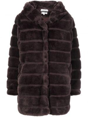 Fioletowy płaszcz z kapturem Apparis