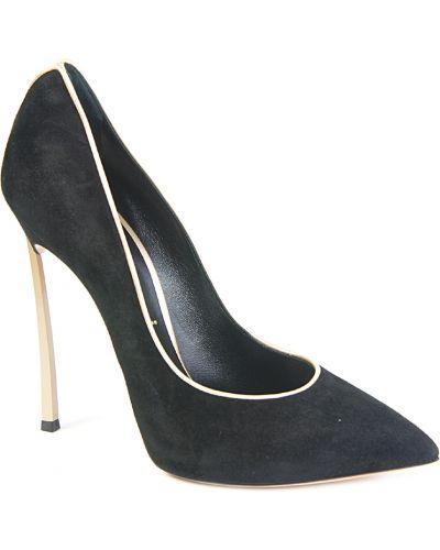 Туфли на каблуке замшевые кожаные Casadei