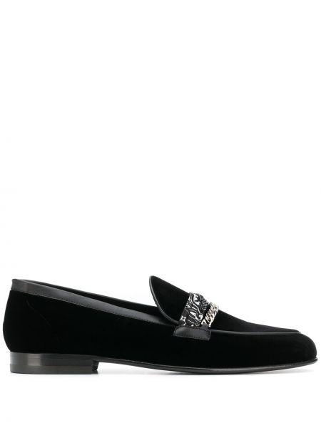 Czarne loafers skorzane Amiri