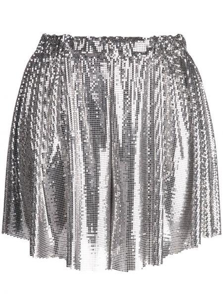 Серые шорты с поясом из вискозы Paco Rabanne