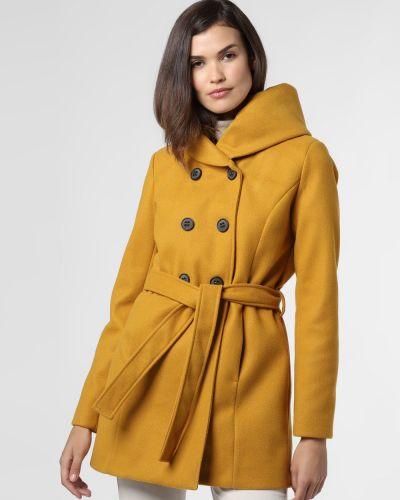 Żółty klasyczny płaszcz Amber & June