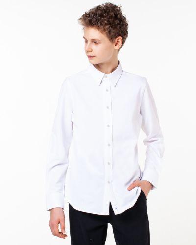 Классическая белая рубашка с вышивкой на кнопках Orby