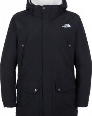 Куртка с капюшоном утепленная черная The North Face
