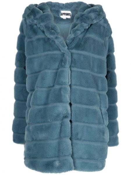 Niebieski płaszcz z kapturem Apparis