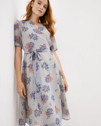 Серое платье с запахом Lorani