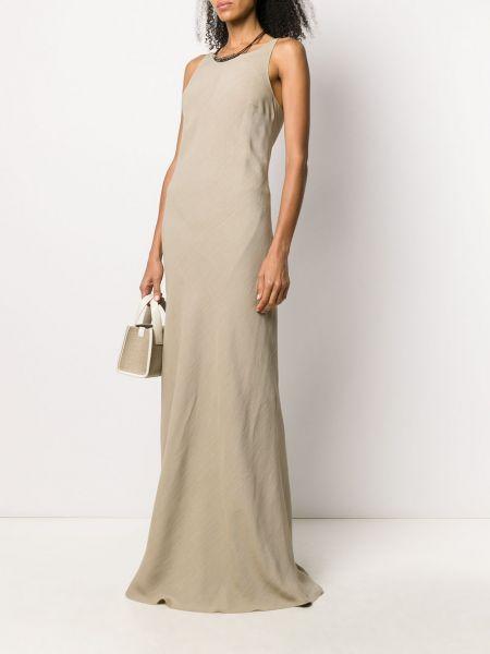 Вечернее платье с вырезом из вискозы круглое Brunello Cucinelli