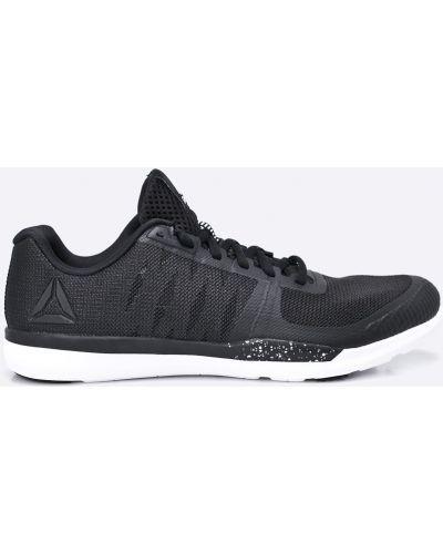 Черные льняные кроссовки беговые Reebok