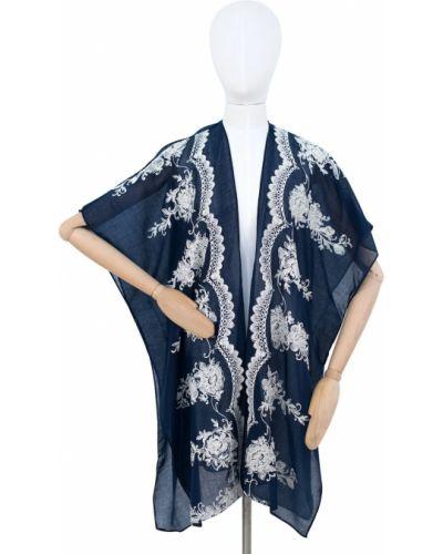 Niebieski ponczo z wiskozy Art Of Polo