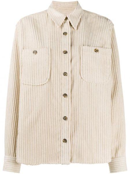 Beżowa koszula z długimi rękawami zapinane na guziki Isabel Marant Etoile