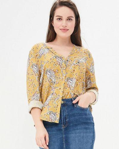 Желтая блузка Violeta By Mango
