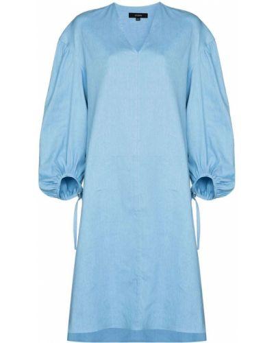 Платье макси длинное - синее Joseph