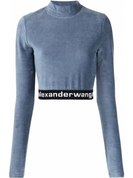 Синий хлопковый топ Alexanderwang.t