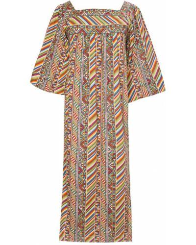 Шелковое платье - коричневое Yves Saint Laurent Vintage