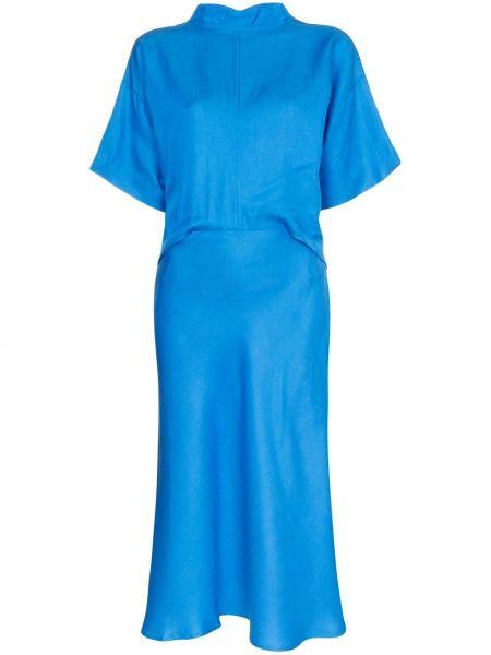 Приталенное расклешенное платье миди на молнии Carcel