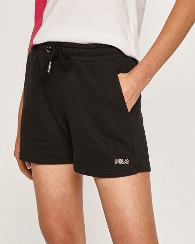 Спортивные шорты черные с подкладкой Fila