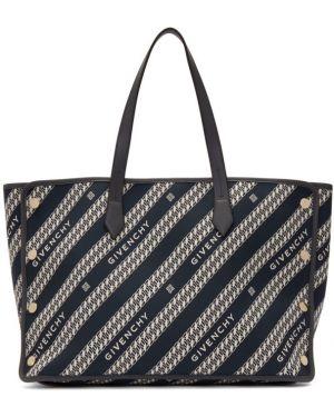 Srebro zamsz torba na zakupy Givenchy