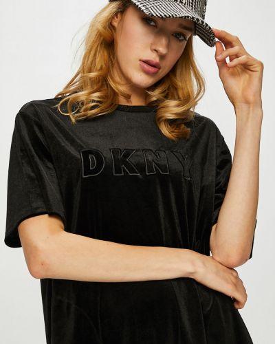 Платье мини свободного кроя с вырезом Dkny