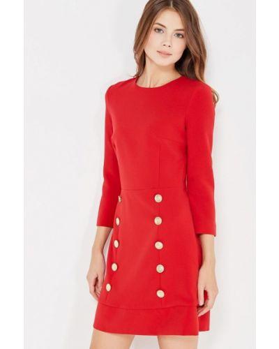Прямое красное платье А-силуэта Self Made