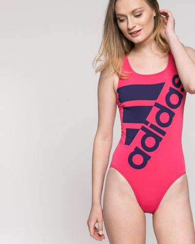 Розовый слитный купальник Adidas Performance