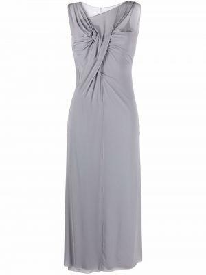Платье с V-образным вырезом - серое Maison Margiela