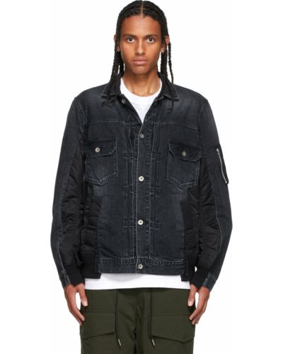 Czarne jeansy Sacai