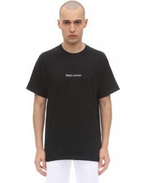 Czarny t-shirt bawełniany Famt - Fuck Art Make Tees