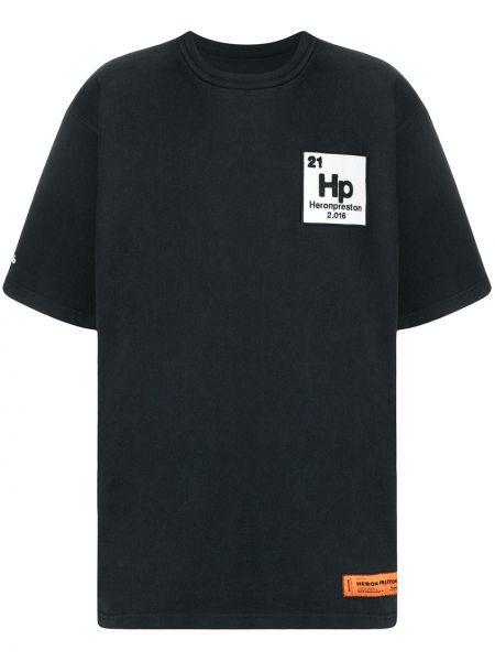 Bawełna czarny koszula krótkie rękawy Heron Preston