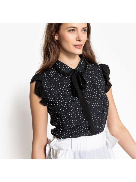 Рубашка с коротким рукавом с бантом в горошек Mademoiselle R