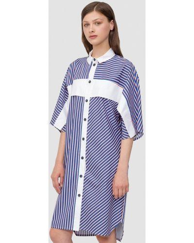 Летнее платье осеннее синее Dolcedonna