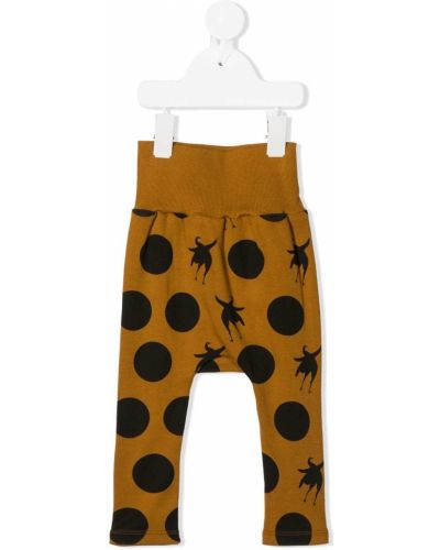 Ватные приталенные хлопковые желтые брюки Wolf & Rita