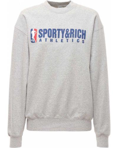 Серый свитшот Sporty And Rich
