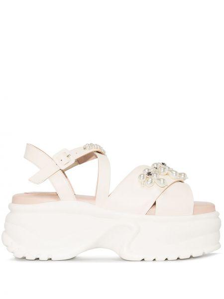 Кожаные сандалии - белые Simone Rocha