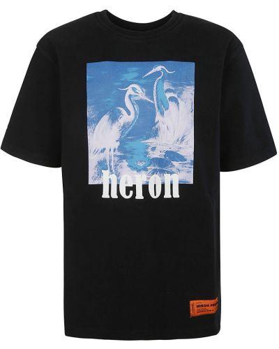 Czarny t-shirt Heron Preston