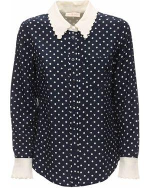 Классическая рубашка с карманами в горошек Tory Burch