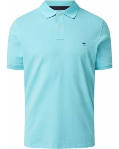 T-shirt bawełniana - turkusowa Fynch-hatton