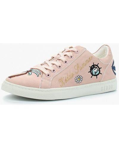Розовые низкие кеды Keddo