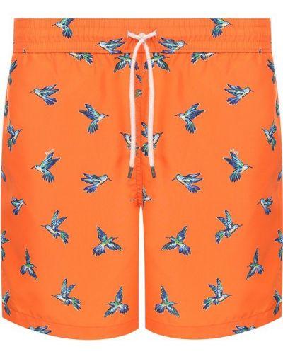 Оранжевые плавки-шорты Polo Ralph Lauren