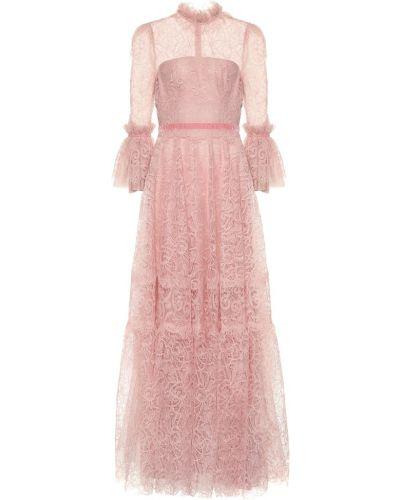 Платье розовое с цветочным принтом Costarellos