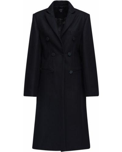 Czarny płaszcz wełniany Ellery