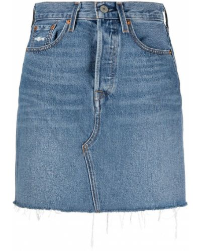 Синяя прямая джинсовая юбка с карманами Levi's®