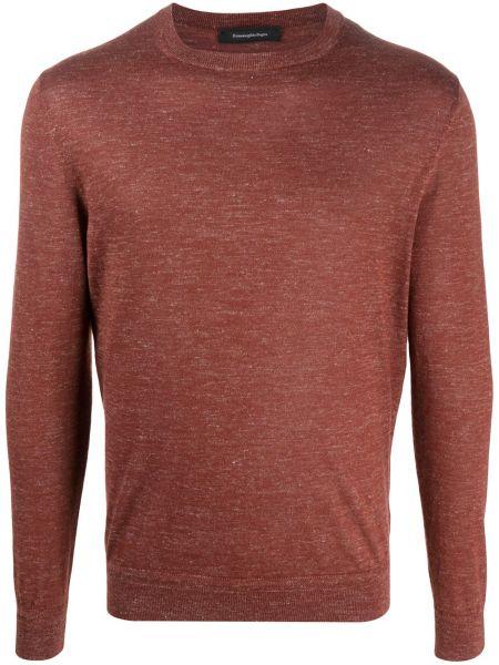Кашемировый вязаный длинный свитер с вырезом Ermenegildo Zegna