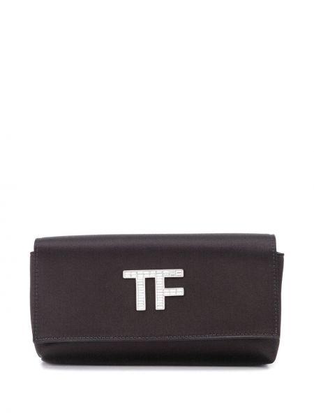 Черная сумка прямоугольная металлическая с карманами Tom Ford
