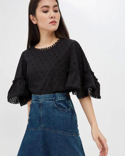 Черная блузка с длинным рукавом See By Chloe