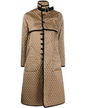 Длинное пальто с воротником золотое с пряжкой Comme Des Garçons Noir Kei Ninomiya