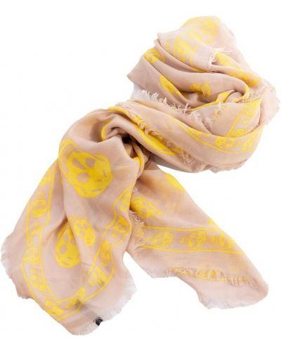 Żółty szalik Alexander Mcqueen Vintage