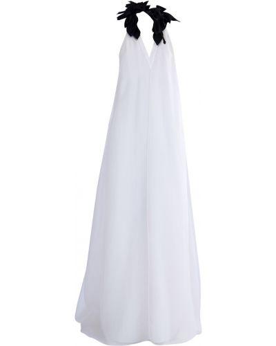 Платье макси с V-образным вырезом со шлейфом Brunello Cucinelli