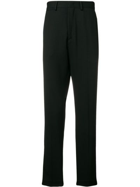 Czarne spodnie wełniane z paskiem Mcq Alexander Mcqueen