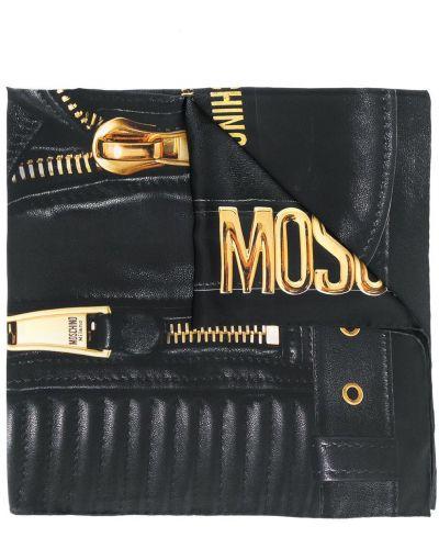 Куртка черная байкерская Moschino