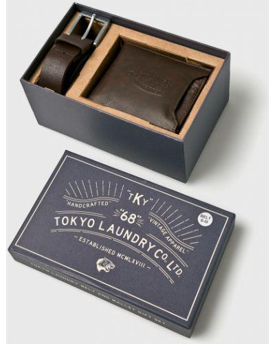 Кожаный ремень - коричневый Tokyo Laundry
