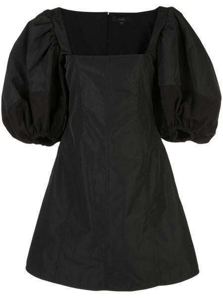 Czarna sukienka mini rozkloszowana z jedwabiu Ellery